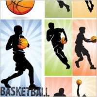 Link toBasketball silhouette character vector