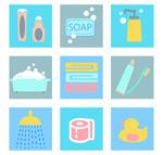 Link toBathroom amenities icons vector
