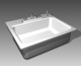 Link toBathroom -bathtub 005 3d model
