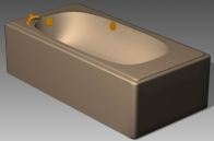 Link toBathroom -bathtub 013 3d model