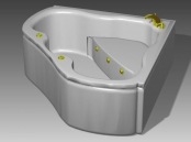 Link toBathroom -bathtub 014 3d model
