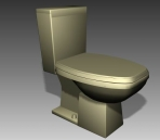 Link toBathroom -toilets 005 3d model