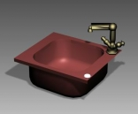 Link toBathroom - wash tank 009 3d model