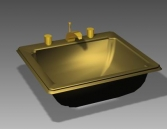 Link toBathroom - wash tank 011 3d model