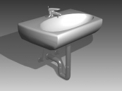 Link toBathroom - wash tank 020 3d model