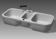 Link toBathroom - wash tank 024 3d model