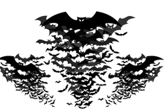 Link toBats silhouettes vector