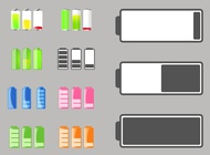 Link toBattery life icons vector free