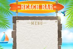 Link toBeach bar menu background vector