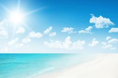 Link toBeach beautiful blue sky background vector