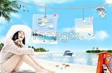 Link topsd beauty casual Beach