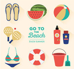 Link toBeach holiday icons vector