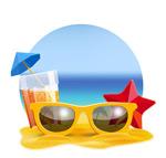 Link toBeach sunglasses illustration vector