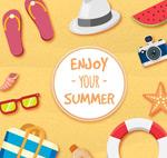 Link toBeach vacation clip art vector