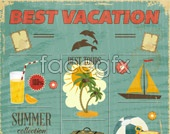 Link toelements design vector vacation Beach