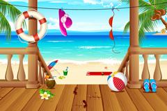 Beach vacation vector illustration