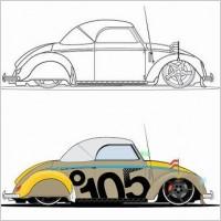 Link toBeatle car vector