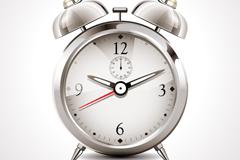 Link toBeautiful alarm clock design vector