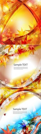 Link toBeautiful autumn leaves background vector map
