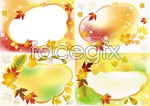 Link toBeautiful autumn picture frame vector
