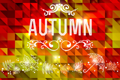 Link toBeautiful autumn plaid background vector
