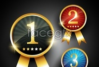 Link toBeautiful award medals, such as 123 vector