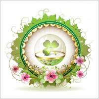 Link toBeautiful background clover 01 vector