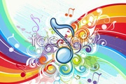 Link toBeautiful background music pattern vector