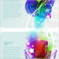 Link toBeautiful background music poster vector