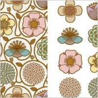 Link toBeautiful background pattern vector material series 2
