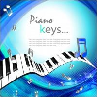 Link toBeautiful background piano keys 01 vector