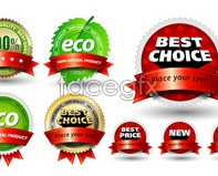 Link tovector newsale gold green icons badge Beautiful