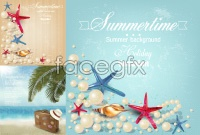 Link toBeautiful beach element vector