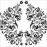 Link toBeautiful black and white pattern vector