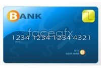 Link toBeautiful blue credit card vector