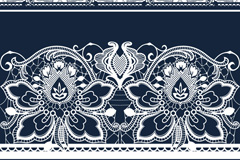 Link toBeautiful blue decorative pattern vector