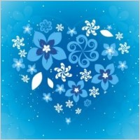 Link toBeautiful blue flowers love design vector pattern eps