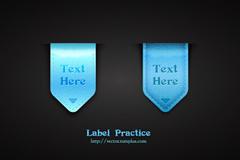 Link toBeautiful blue light tag vector