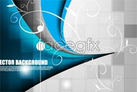Link toBeautiful blue mosaic background vector map