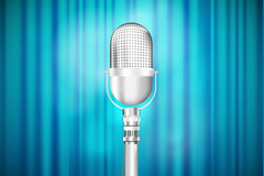 Link toBeautiful blue silver microphone stage vector diagrams
