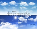 Link toBeautiful blue sky and white clouds vector