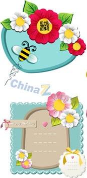 Link toBeautiful border flowers vector