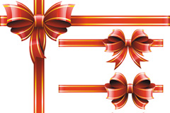 Link toBeautiful bow decoration design vector