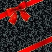 Link toBeautiful bow holiday cards vector set 05