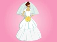 Link toBeautiful bride vector free