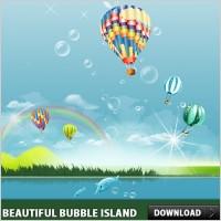 Link toBeautiful bubble island psd file