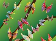 Link toBeautiful butterflies vector free
