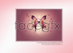 Link toBeautiful butterfly decorative painting psd