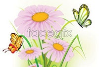 Link toBeautiful butterfly flowers vector