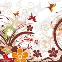 Link toBeautiful butterfly pattern and vector material